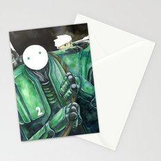 Moonbot #2: Green Stationery Cards