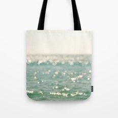 beach. bokeh sparkle, ocean. La Mer Tote Bag