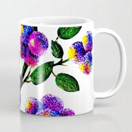 Blue Pink Yelow Flower Branch Clip Art Coffee Mug