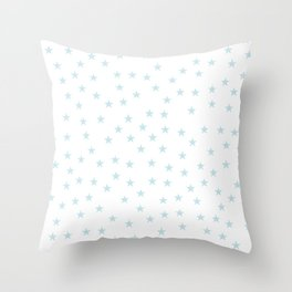 Baby blue stars seamless pattern Throw Pillow