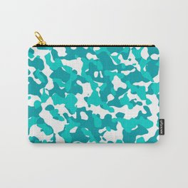 Camouflage Turquoise Teal Carry-All Pouch