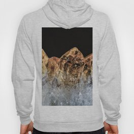 Fire and Ice Citrine crystals Hoody