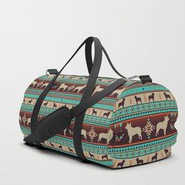 Boho dogs | Australian cattle dog sunset Duffle Bag