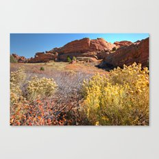 Red Rocks Park Afternoon Canvas Print
