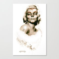 Marylin Muerte (Gold Edition) Canvas Print