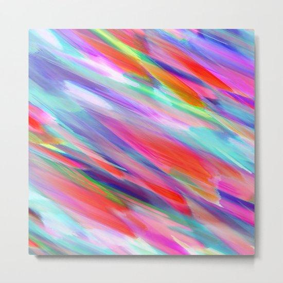 Colorful digital art splashing G399 Metal Print