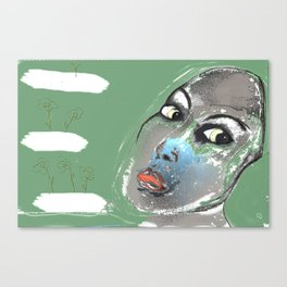 Lady Green Canvas Print