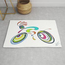 Bicycle - Kokopelli rides again Rug