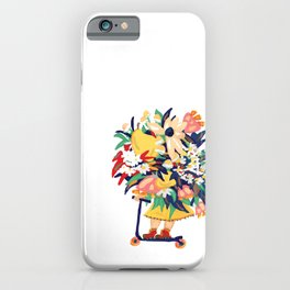 Floral Scooter Babe iPhone Case