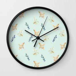 Watercolour floral motifs Wall Clock