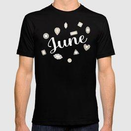 June Birthstone T-shirt