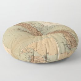 Vintage Map of Baja California (1922) Floor Pillow