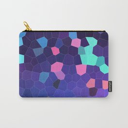 Mosaic in Blue, Turquoise and Pink Carry-All Pouch