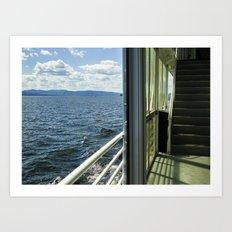 Burlington, Vermont Boat Ride.  Art Print