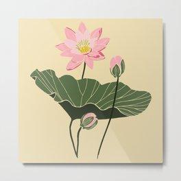 Lotos botanical illustartion Metal Print