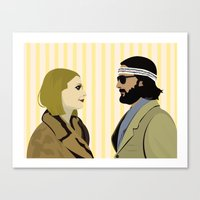 the royal tenenbaums Canvas Prints featuring The royal Tenenbaums by Little cabin on the hill