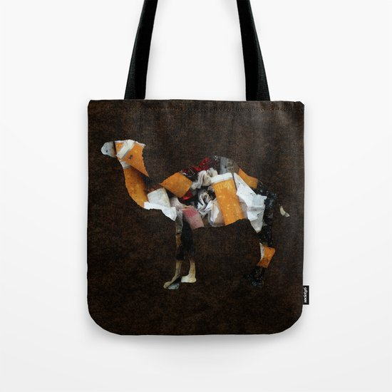 Camel Collage 3 Tote Bag