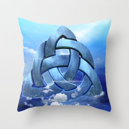 Sacred Geometry - Trinity 09 Throw Pillow