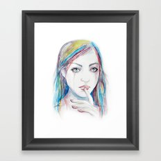 Never say a word Framed Art Print