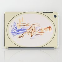 erotic iPad Cases featuring Erotic lady in lingerie - Retrostyle by Marita Zacharias
