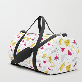 Red yellow geometric Duffle Bag