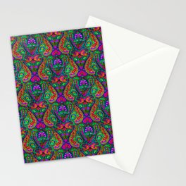 Boho Paisley Ethnic Pattern Stationery Cards