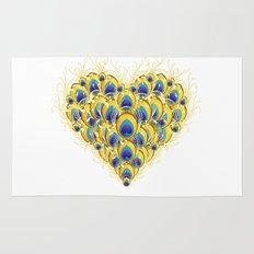 Peacock Heart Rug