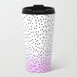 dots on pink view Travel Mug