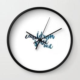 A Court of Mist and Fury- Cauldron Save Me (Plain Blue) Wall Clock