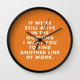 """Fantastic Mr Fox - """"If we're still alive in the morning..."""" Wall Clock"""