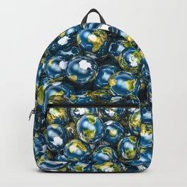 Earths / 3D render of Earth globes Backpack