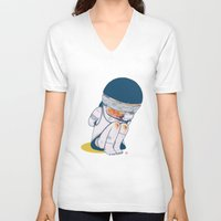 vietnam V-neck T-shirts featuring VIETNAM by Morbix