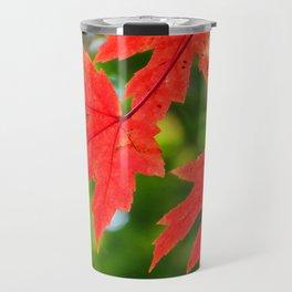 RED Autumn leaves 1 Travel Mug