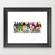 Superheroine Butts - Group Framed Art Print