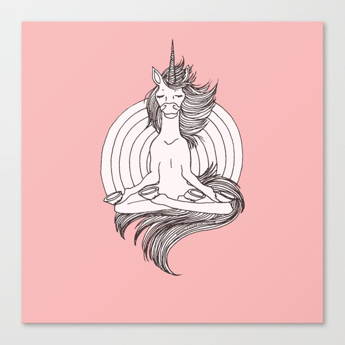 Zen as F*CK Canvas Print