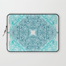 Teal Tangle Square Laptop Sleeve