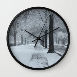 When It Snowed Wall Clock