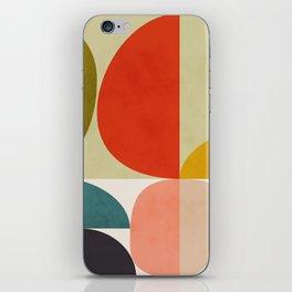 shapes of mid century geometry art iPhone Skin