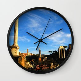 Foro Romano Wall Clock