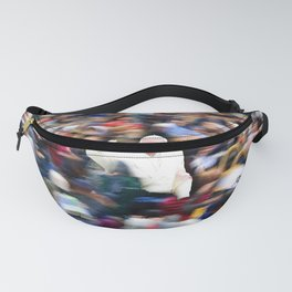 Pope Francis In Crowd of Faithful Acrylic 5 Fanny Pack