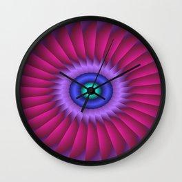 mandalas on duffle bags -2- Wall Clock