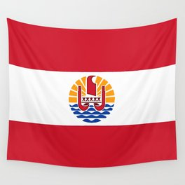 flag of french polynesia Wall Tapestry