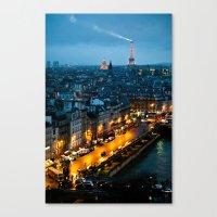 paris Canvas Prints featuring Paris by Luca Spanu