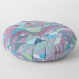 Triangle Pattern no.3 Violet Floor Pillow