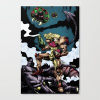 samus Canvas Prints featuring Samus by ADobson
