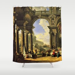 Giovanni Paolo Panini's Masterpiece: The Wedding at Cana, circa 1725 Shower Curtain