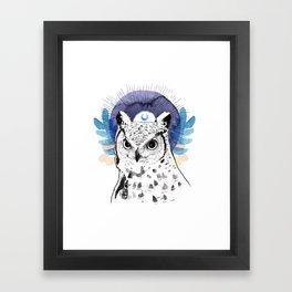 The Owl (Spirit Animal) Framed Art Print