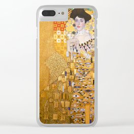 Gustav Klimt - The Woman in Gold Clear iPhone Case