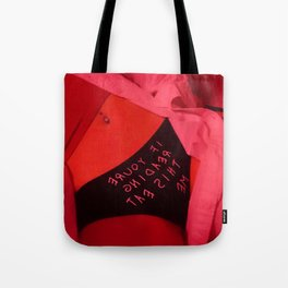 If you're reading this eat me Tote Bag