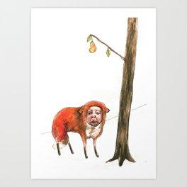 The Last Pear Art Print